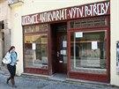 Jeden ze zrušených obchodů v centru Olomouce.