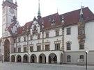 Vizualizace podoby Horn�ho n�m�st� v Olomouci s variantou lamp lidov� zvanou...