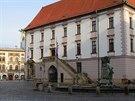 Vizualizace podoby Horního náměstí v Olomouci s variantou lamp Philips...