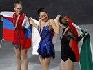 VÍTĚZKY. Individuální závod žen na světovém šampionátu v krasobruslení v...