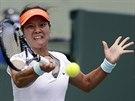 Čínská tenistka Li Na během finálového souboje na turnaji v Miami proti Sereně...