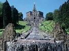 Kassel, Německo. Herkulova socha a Velké kaskády