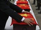 Kazety s ostatky čínských vojáků vyzvedla v Jižní Koreji vojenská delegace s