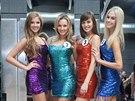 Finalistky sout�e �esk� Miss 2014 Gabriela Bendov�, Krist�na Svobodov�, Simona...