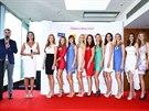 Moderátor Libor Bouček, ředitelka soutěže Česká Miss Michaela Maláčová a...