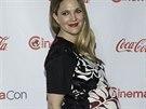 Těhotná Drew Barrymore (27. března 2014)