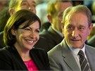 Socialistická kandidátka na pařížskou starostku  Anne Hidalgová. (23. 3. 2014)