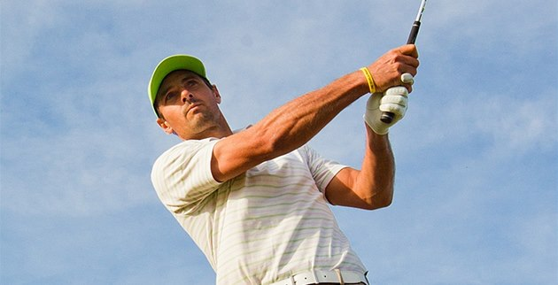 Golfista Roman �ebrle na Park Golfu v Hradci Králové