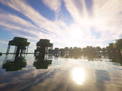 Minecraft s modifikací Sonic Ether's Unbelievable Shaders