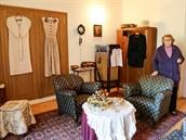 Kastelánka Eva Kolářová představuje nové expozice na zámku v Raduni.