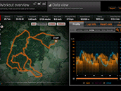 Sports Tracker: Web je přehledný a designově vydařený. Pro jeho spuštění ale