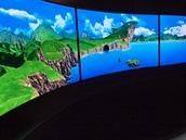 OLED televizor lze prohnout jakkoliv. Konvexně i konkávně. Pro reklamní použití...