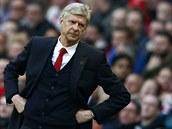 Mana�er Arsenalu Arséne Wenger b�hem duelu proti Manchesteru City