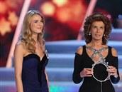 Česká Miss 2014 Gabriela Franková a Sophia Lorenová (29. března 2014)
