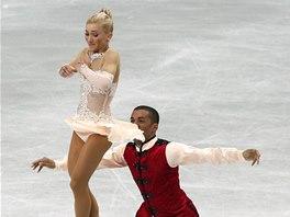 Aljona Savchenková a Robin Szolkowy při jízdě, za kterou získali pátý titul