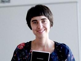 Redaktorka MfD Klára Kubíčková a její čtečka
