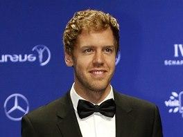 Německý pilot formule 1 Sebastian Vettel, vítěz ceny Laureus 2013.