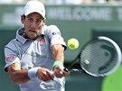 Novak Djokovič se soustředí na úder ve finále turnaje v Miami, kde porazil