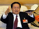 Bývalý bezpečnostní šéf Čou Jung-kchang na snímku z března 2011 promlouvá na...