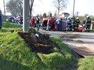 Tragická autonehoda v obci Sběř na Jičínsku