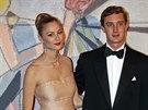Pierre Casiraghi a jeho p��telkyn� Beatrice Borromeo (Monte Carlo, 29. b�ezna 2014)