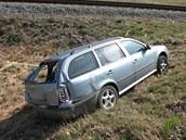 Střet oktávie s motorovým vlakem ve Svitavách
