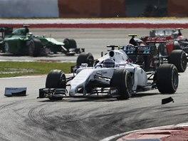 Valtteri Bottas ze stáje Williams ve Velké ceně Malajsie.