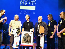 Předávání cen soutěže Jazz World Photo 2014 (zleva Tomáš Katschner, Rainer Rygalyk, Didier Jallais, Miroslav Novotný, Ivan Prokop a Patrick Marek)
