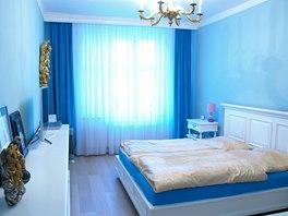 Ložnice s modrým nádechem...