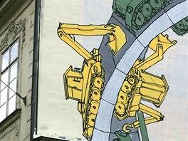 Exsymbol. Tanky na zdi domu byly dlouhá léta symbolem proluky na Národní.