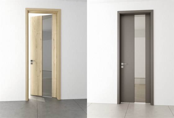 Dveře SPIRIT, které pomohou prosvětlit prostor, dvě různá zobrazená provedení.
