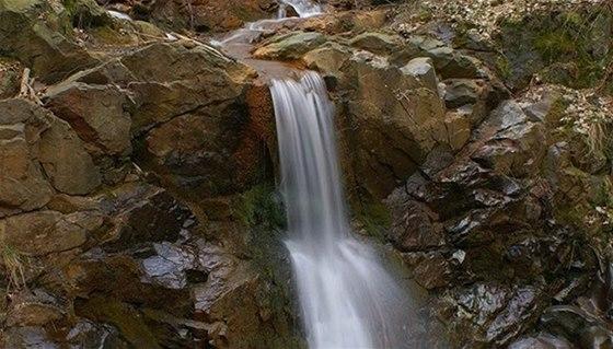 Vodopád Dírka u Darové - nejvyšší vodopád Plzeňska