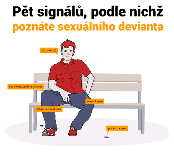 INFOGRAFIKA: Pět signálů, podle nichž poznáte sexuálního devianta