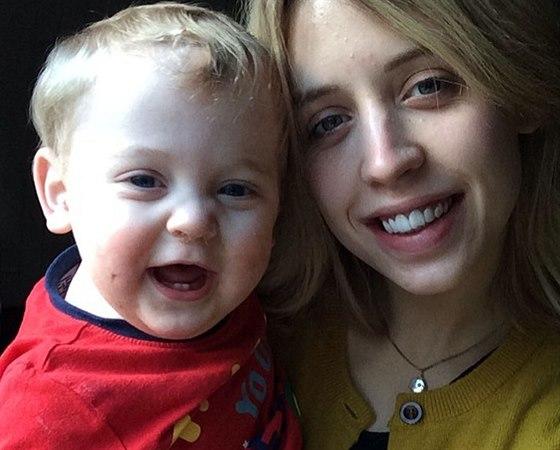 Peaches Geldofová se svým synem