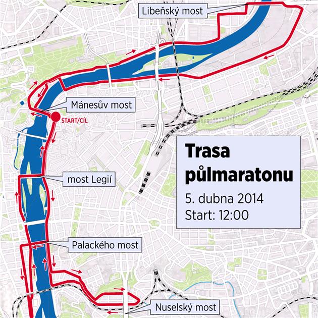 Trasa půlmaratonu 2014