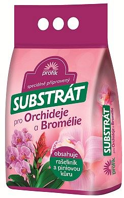 substrát orchideje