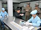 Severokorejský vůdce Kim Čong-un na návštěvě v údajné první severokorejské