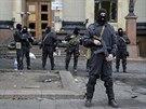 Obsazené úřední budovy v Charkově vyklidily speciální jednotky (8. dubna 2014)