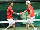 JAPONSKÉ DUO. Jasutaka Učijama (vlevo) a Tacuma Ito dostali důvěru pro sobotní...