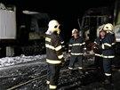Na místo vyjížděli hasičské záchranné sbory z Kralup nad Vltavou, Slaného,