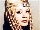 Herečka Jana Brejchová patřila k nejobsazovanějším českým herečkám. Zazářila jako studentka Jana ve filmu Vyšší princip (1960) i jako Eliška Pomořanská v muzikálu Noc na Karlštejně (1973). Na snímku s představitelem Karla IV. Vlastimilem Brodským.