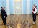 Velvyslanec Tomáš Pernický při setkání s arménským prezidentem Seržem...