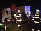 Nehoda tří kamionů blokovala dálnici D1 na Benešovsku.