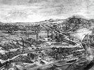 T�ineck� �elez�rny na rytin� v roce 1886.