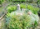 Model hrádku v zahradě ve Štětí na Litoměřicku