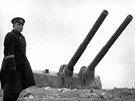 Kpt. Aleksej Jakovlevič Leščenko, poslední velitel baterie Maxim Gorkij II...
