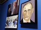 Portrét ruského prezidenta Vladimíra Putina jehož autorem je George W. Bush