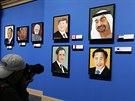 Portréty světových státníků na výstavě obrazů George W. Bushe