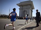 Každoroční mezinárodní maraton pořádá Severní Korea k uctění památky svého