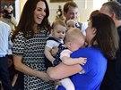 Ne každá holčička byla ze setkání s princem nadšená.